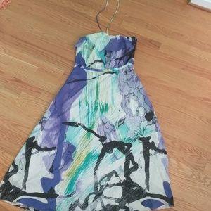 Long, flowy dress worn twice